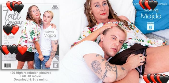 Majda (49) – Tall cougar seduces a young guy