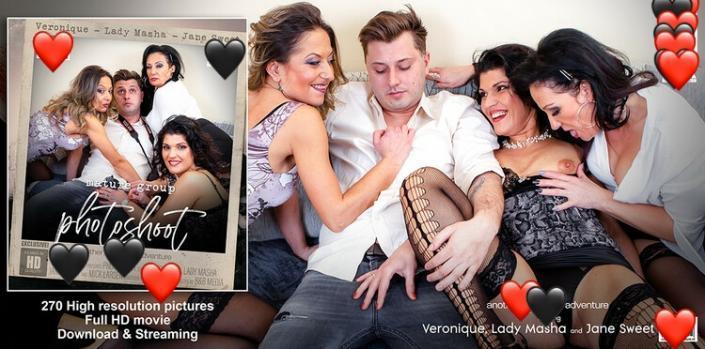 Jane Sweet (38), Lady Masha (48) & Veronique (43) – Three horny cougars seduce a young